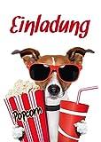 10 Kino-Einladungen (Set 1) / Geburtstagseinladungen Kinder Mädchen Jungen: 10-er Set lustige Kino-Einladungskarten für den nächsten Kindergeburtstag im Kino von EDITION COLIBRI © (10700) -