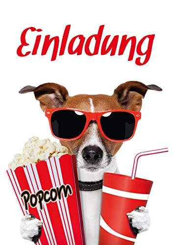 10 Kino-Einladungen (Set 1) / Geburtstagseinladungen Kinder Mädchen Jungen: 10-er Set lustige Kino-Einladungskarten für den nächsten Kindergeburtstag im Kino von EDITION COLIBRI © (10700)