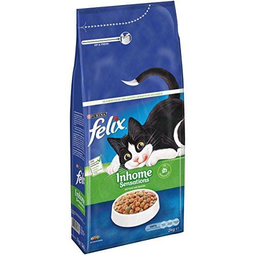 FELIX Inhome Sensations Katzenfutter trocken für Hauskatzen, mit Huhn & Gemüse, 6er Pack (6 x 2kg)