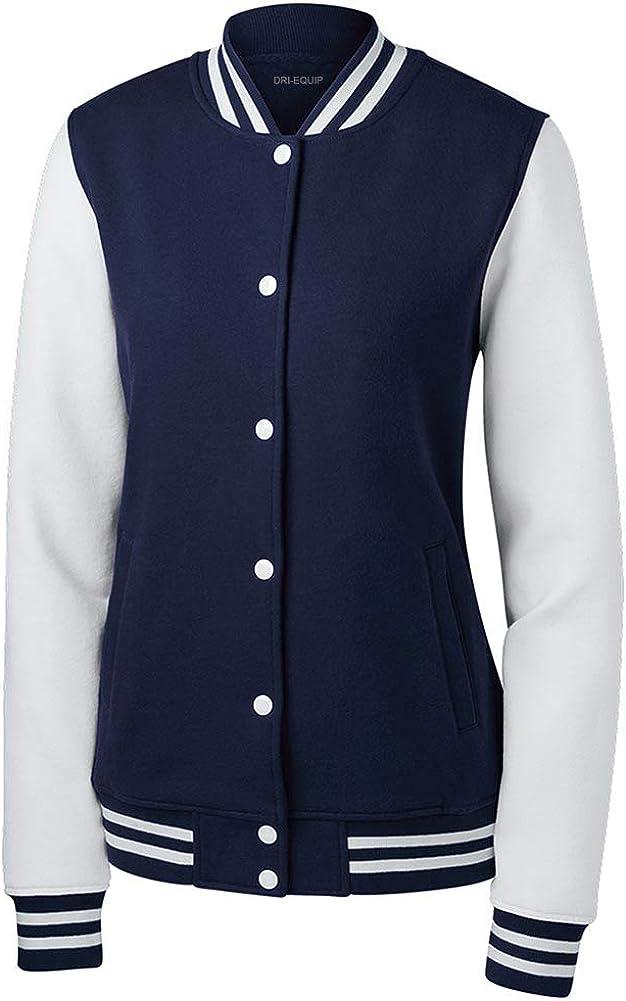 訳あり品送料無料 定価 DRIEQUIP Ladies Fleece Letterman Jacket Sizes XS-4XL