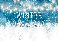ZPC冬のワンダーランド自然林杉クリスマス写真背景ボケキラキラ文字列ライトビニール写真背景写真撮影ポートレートスタジオ誕生日Party7X5FT