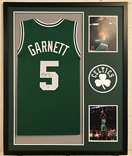 Kevin Garnett Autographed Custom Framed Boston Celtics Jersey PSA/DNA COA