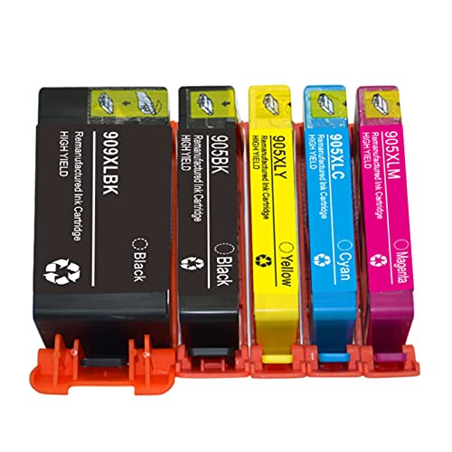 YQDZ Reemplazo De Cartuchos De Tinta Remanufacturados Adecuado para HP909XL 905XL, para HP6960 6970 Impresora De Inyección De Tinta Combo Pack