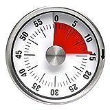 Küchenwecker, Mechanischer und Magnetisch Küchentimer, 60 Minuten Countdown Kurzzeitmesser, Analog Kurzzeitwecker für Küche/Kochen/Backen/Sport/Büro