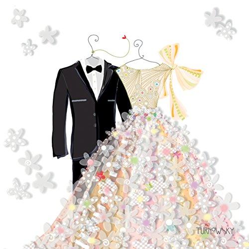 Cocktail servetten/cake servetten bruid & bruidegom voor uw bruiloft - 25x 25cm - 3 lagen - pak van 20