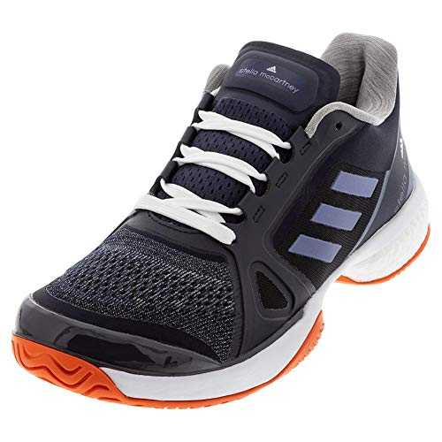 adidas Women's Asmc Barricade Boost 2017 Tennis Shoe, Blue/Super Purple/Radiant Orange, 7 M US