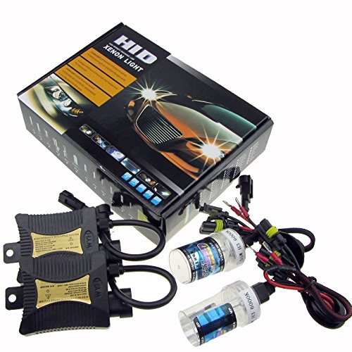 JINYJIA 12V 55W Xenon HID Conversion Kit Headlight for Car Vehicle Replacement Bulb, H7/6000K