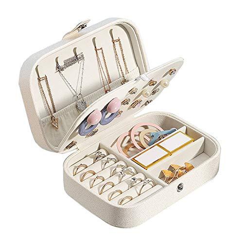 OHHCO Caja de joyería de Viajes Joyería, Organizador de Joyas portátiles niñas y Regalo para Mujer para Collar Pendientes Anillos Pulseras