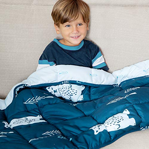Weighted Blanket Sleeping Bag for Kids 5LB - Perfect for...