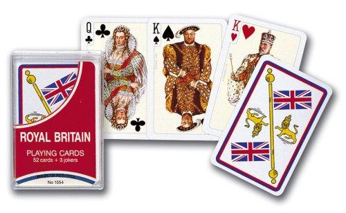 Gibsons Games Piatnik Playing Cards–Carte da Gioco Royal Gran Bretagna, Singolo Ponte (Scatola di plastica)