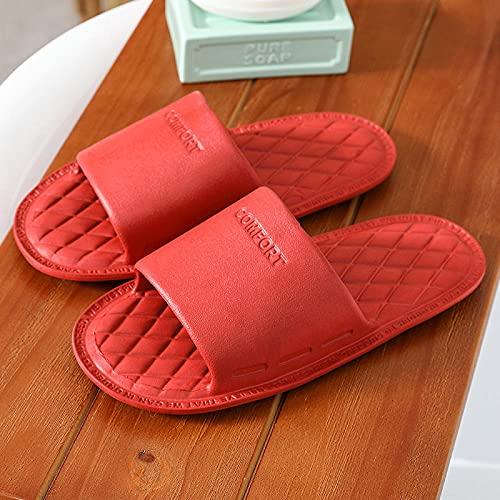 LLGG Zapatos de Playa Piscina Unisex Adulto,Barrido en el Durmiente, Zapatillas de baño de habitación Blanda Suave-Rojo_36-37,Zapatillas Interior Piso