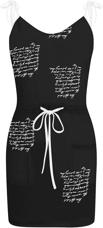 Sun Dresses Women Summer Casual V-Neck Sleeveless Bandage Pocktes Printing Loose Vest Sling Dress Casual Sexy Boho