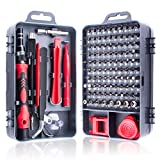 Miuzei 115 in 1 Precision Screwdriver Set, Magnetic Impact Driver Bits Kit, Professional