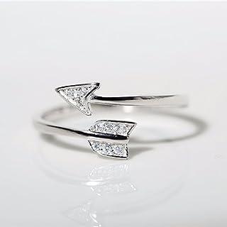Elistelle frecce anelli femmina passione Cupid diamante cuori aperti finger Ring Jewelry