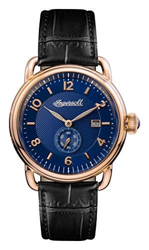 Ingersoll Herren Datum klassisch Quarz Uhr mit Leder Armband I00804