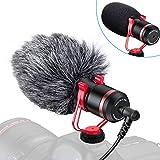 Tendak Kamera Mikrofon Mobiles Mini-Mikrofon Kamera Mini-Mikrofon Camera Microphone Ausgestattet mit Anti-Schock-Halterung Geeignet für Kamera Smartphone, Live-Übertragung,Vlog, YouTube-Interview