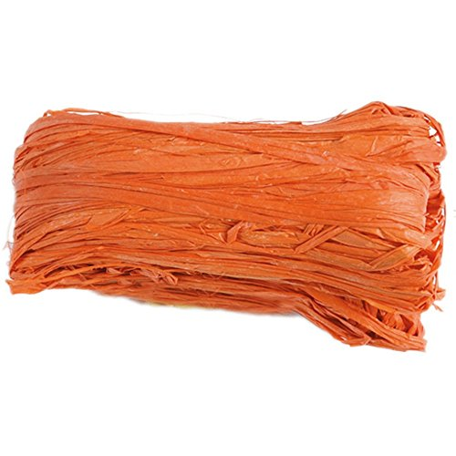 Discount Mariage - Rafia naturel couleur orange