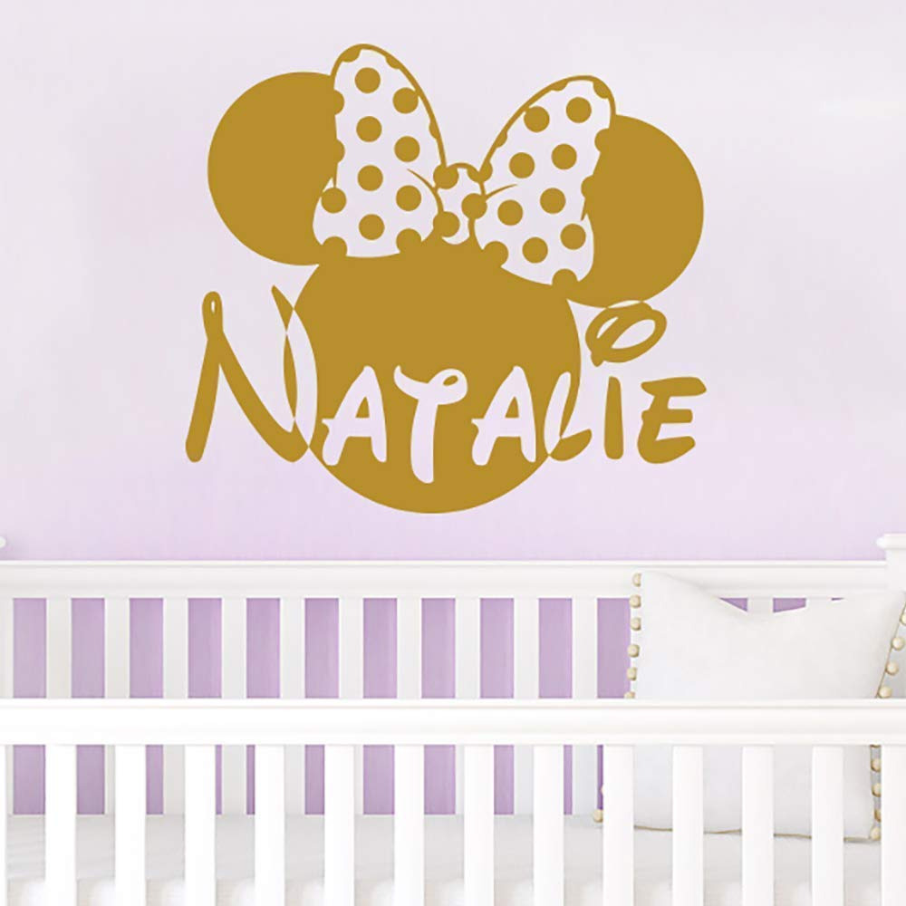 Wall Name Decal Minnie Mouse Head mart Decals Vinyl Ranking TOP12 Custo Bow Sticker