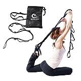 Benificer Correa de Yoga Multi-loop para Estiramiento y Entrenamiento de Resistencia Stretch Strap para Ejercicio Fitness Gimnasia y Danza