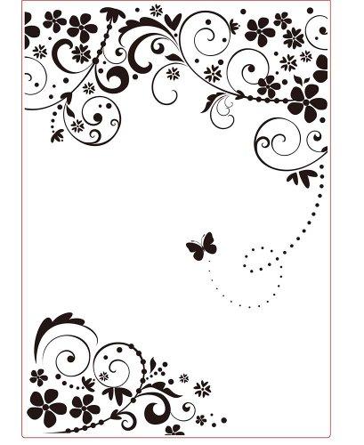 Darice Embossing Folder Cartella per Goffratura Mascherina Cornice Farfalla, 29.7x21x0.3 cm
