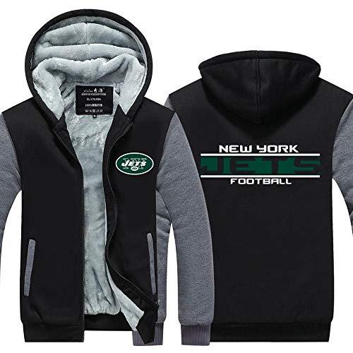 Hoodie Herbst Und Winter Rugby Fan-Jacke Plus Samt Gepolsterte Reißverschluss-Sport-Sweater Gelegenheits Jumper A-M