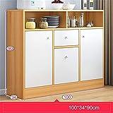 KCCCC Gabinete del aparador Comedor Servidor Bar Cabina de almacenaje aparador Buffet Gabinete Consola de Mesa Comedor (Color : Wood, Size : 100x34x90cm)