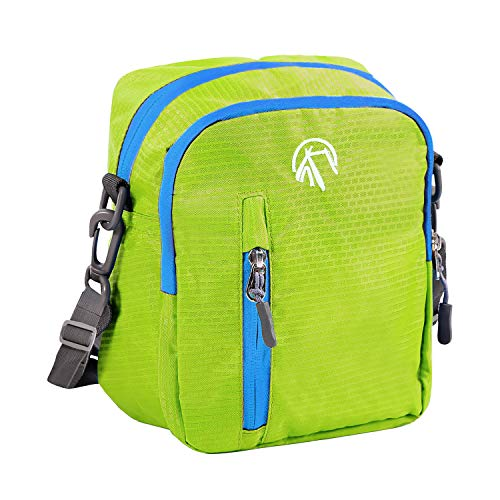 REDCAMP Small Messenger Bag Crossbody Bag for Outdoor Travel Sport, Multifunctional Wearproof Small Shoulder Bag for Men Women Boys, Green