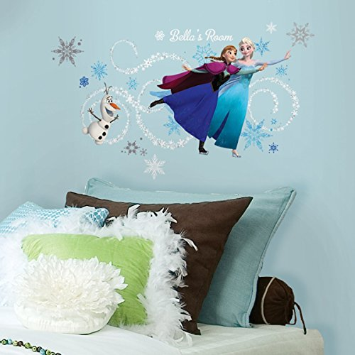RoomMates Stickers prénom La Reine des Neiges Disney