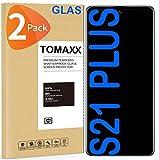 tomaxx 2 pellicole protettive in vetro temperato per samsung galaxy s21 plus 9h, compatibile con smartphone samsung galaxy s21+ plus