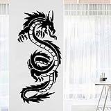 JZYIH Pegatina decorativa del dragón Decoración casera a prueba de agua Tatuajes de pared impermeables Tatuajes de pared M 28cm X 60cm