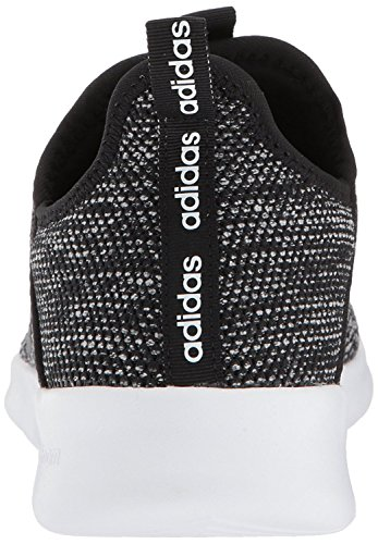 adidas Women's Cloudfoam Pure Running Shoe, black/black/white, 8 Medium US