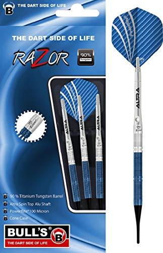 BULL'S Razor R1 Soft Dart, Silber/Blau, 18g
