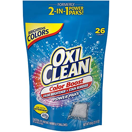OxiClean Color Boost Color Brightener plus Stain Remover Power Paks 26 Count