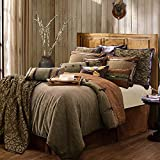 HiEnd Accents Highland Lodge Rustic Reversible Bedding Set, Super King, Brown