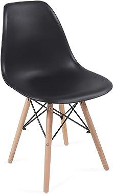 Lot de 2 chaises modernes de salle à manger, cuisine, salon, style scandinave, différentes couleurs, pieds en bois de hêtre,