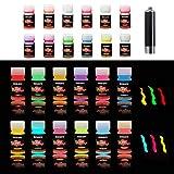 HXDZFX Glow in The Dark Paint UV Paint(Set of 12 Bottles 20g. Each) Safe...