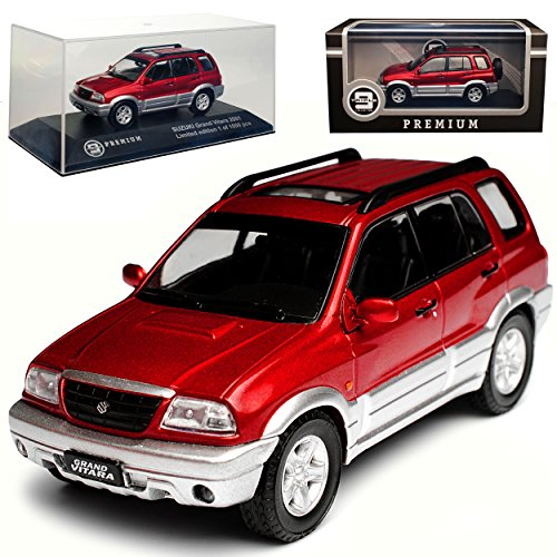 Ixo Suzuki Grand Vitara Rot Silber 1. Generation 1998-2005 limitiert 1 von 1000 Triple 9 1/43 Modell Auto