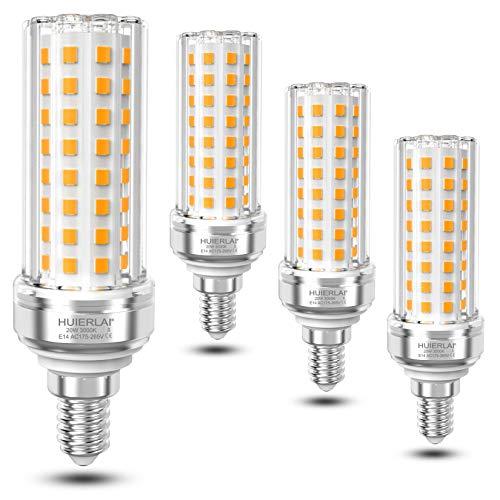 E14 LED Warmweiß 20W Led Lampen Ersatz 150W Glühlampe, 3000K 2100LM Led Glühbirnen E14 Led Mais Birnen Led Energiesparlampe E14 Maiskolben Birne Led Kerze Leuchtmittel Nicht Dimmbar, 4er-Pack