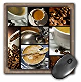 3dRose LLC 8 x 8 x 0.25 Inches Mouse Pad, Coffee Themed Collage (mp_28754_1)