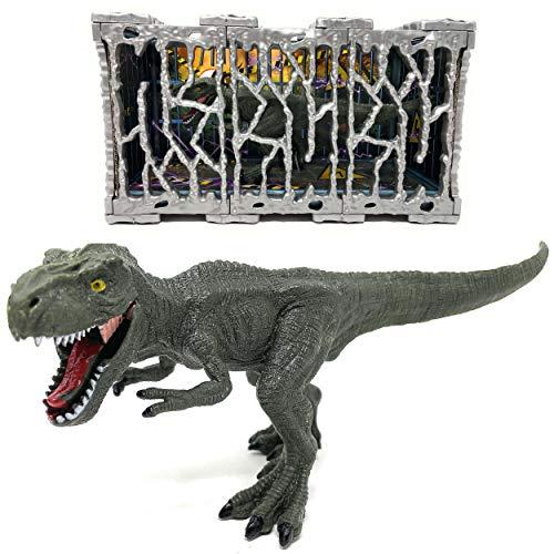 Trex Indominus Rex Dinosaurier im Käfig...