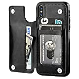 iPhone Xs iPhone X Wallet Case with Card Holder,OT ONETOP Premium PU Leather...