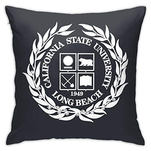 YUFA L-ong be-ACH Team State Pillow Covers Cushion Cover Cases Pillowcases Sofa Couch Bed Home Decor 18'X 18'Inch (45 X 45cm)