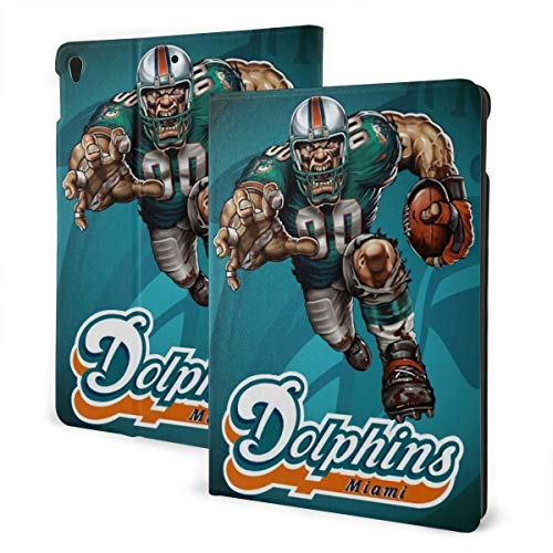 Azhangljqn Protective Cover Miami Dolphins ipad Protective Cover, Non-Slip, Anti-Scratch, Anti-Shock, Soft Silicone Protective Shell