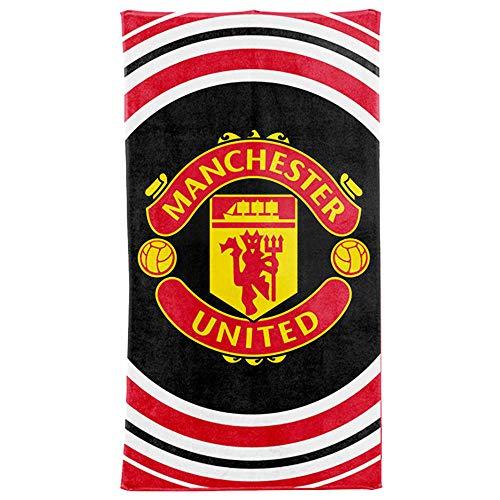 MuFC Offizielles Manchester United Badetuch, 100 % Baumwolle, 70 x 140 cm