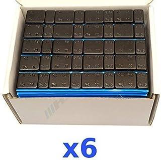 6 x 6 kg 36 kg svart urvalsvikt 5 g x 4 + 10 g x 4 självhäftande vikt lim