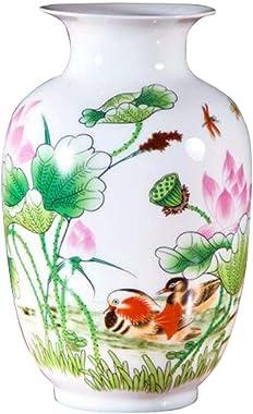 Vase en céramique de Style Chinois, Vase de décoration pour la Maison et Centre de Table, A02
