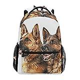COOSUN Dibujo del perro de pastor alemán Mochila Casual Escuela Mochila bolsa de viaje Multicolor