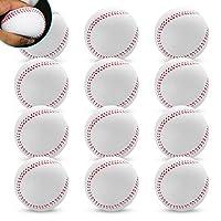 HIRAISM 野球ボール やわらかい 軟式 7cm 9インチ B号 ホワイト 1ダース 12個セット