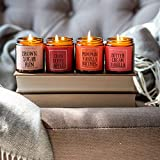 NaturalAnnie Essentials Fall Baked Goods Scented Candles - 4 Pack Gift Set