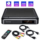 Lettore DVD Portatile Gueray con Upscaling Full HD e Riproduzione HDD Esterna DVD-R/RW Porta CD-R/RW USB,Telecomando, DivX, Cavo Audio AV per collegamento TV, Porta HDMI